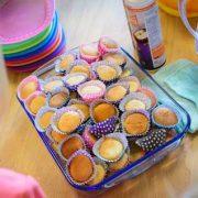 Cupcakes tijdens opening